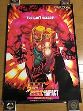 Street Fighter III 2nd Impact Original B1 Arcade Poster Japan CAPCOM PCB CPS3