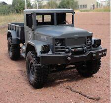 RC U.S. Militär Truck 4WD Allrad Blattfedern RTR grau + Uhr