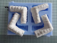 Sandbag Corners Mould for wargame scenery and building terrains WG04