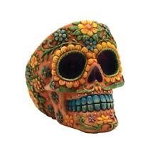 """Sugar Skull Day of the Dead Ashtray // Calavera Dia de los Muertos // 4"""" inches"""