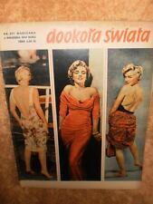 2 x Marilyn Monroe Cover Polish Dookola Swiata 1959 1962 Poland + 2 x Bonus