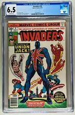 INVADERS #8 CGC 6.5 FN+ (MARVEL 1976) 🔑 JACK KIRBBY COVER 🔥1ST UNION JACK