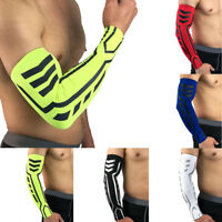 Men Compression Arm Sleeve Elbow Warmers Cycling Biking Sports UV Protection