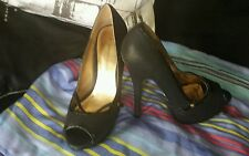 """Dorothy Perkins High Heel Shoes Court Shoes In Black Jittery 6"""" Heels Size 4 UK"""