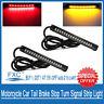 2x Flexible 17 LED Light Strip Rear Tail Turn Signal Indicator Lamp Motorcycle