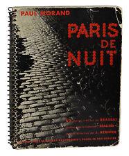 Paris de Nuit ~ PAUL MORAND ~ BRASSAI ~ First Edition ~ 1933 French Photography