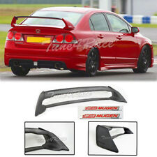 For 06-11 Civic Sedan Mugen RR Rear Spoiler FD2 FA2 W/ Red Emblems ABS Plastic