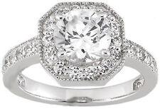 2.11 ct total Round Diamond Halo Engagement Wedding 14k Gold Ring 1.50 ct center