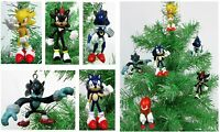 Sonic 6 Piece Christmas Ornament Set Featuring Sonic Shadow,  Werehog, BRAND NEW
