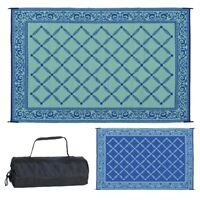 6'x9' RV Patio Mat Indoor Outdoor Rug Reversible Camping Picnic Carpet Deck Rug