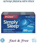 Simply Sleep Non-Habit Forming Nighttime Sleep Aid Caplets 100 ct Exp 08/2022