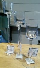 Yankee Candle Set Of 3 Stemmed Glass Votivesampler Candle Holders Elegant...