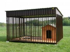 SOLID OUTDOOR ANIMAL DOG CAGE KENNEL  3 SIZES CHOOSE ONE