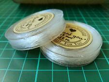 Rollo 12 m hilo de silicona 0,7 mm X 2 UNIDADES transparente elástico abalorios