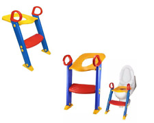 Kids Baby Safety Potty Training Toilet Step Ladder Loo Seat Toddler Trainer Step