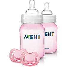Philips AVENT Classic+ It's a Girl Set  - Pink Bottles New Model - No rings need