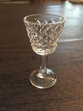 "WATERFORD CRYSTAL ALANA CORDIAL EXCELLENT CONDITION PLAIN FOOT 3 1/2"" TALL"