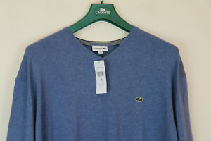 Lacoste Mens Cotton Crew Neck Jumper RRP £95 Size 10  , 1XG  ,5XL