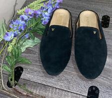 Vionic Womens Carnegie Black Slip On Suede Mules Slipper Arch Support Sz 9