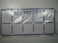 Ontario Reciprocity Commercial Truck License Plate Single SEALED NEVER ISSUED