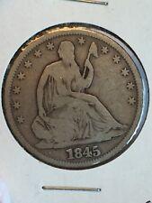 1845-O SEATED LIBERTY SILVER HALF DOLLAR
