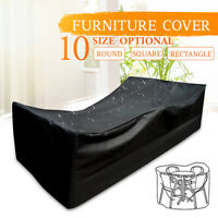 9 Size Outdoor Garden Patio Yard Waterproof Furniture Covers Rain UV Protection