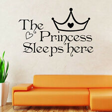Baby Kid Girl Princess Removable Wall Sticker Nursery Room Decor Decal Art Mural