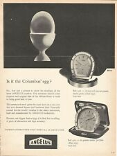 vintage 1955 print ad ANGELUS Swiss 8-day alarm clock watch MID CENTURY ART
