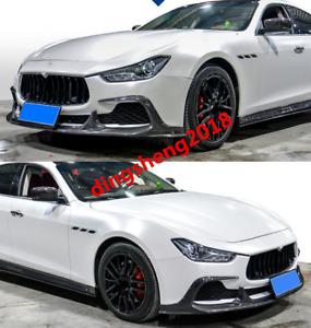Carbon fiber front lip+rear lip+side lip+rear spoiler for Maserati Ghibli 2014+