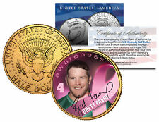 Breast Cancer Awareness BRETT FAVRE NFL JFK Half Dollar 24K Gold Plated US Coin