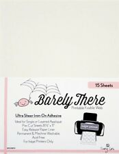 Barely There Printable Fusible Web - For Inkjet Printers and Copiers Only