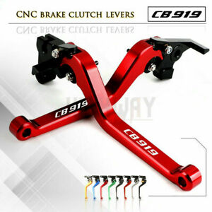 Motorcycle CNC ALU Long Adjustable Brake Clutch Levers for HONDA CB919 02-07