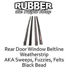 1967 - 1972 Chevy & GMC Suburban Rear Door Window Felt / Beltline Seals