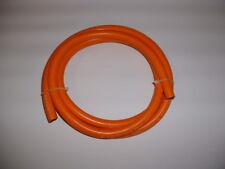 ORANGE PROPANE AND BUTANE GAS FLEXIBLE HOSE TUBING 2M LONG  15MM O.D. 8MM I.D.