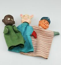 Vintage 3 x Plastic Head Hand Puppets (YZ83)