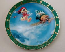 Danbury Mint Collector Plate Dear Diary Garfield Odie Sledding All My Nine Lives