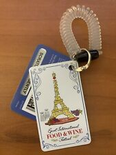 Disney Parks Epcot Food & Wine Reloadable Gift Card Wrist Band Remy Cheese Tower