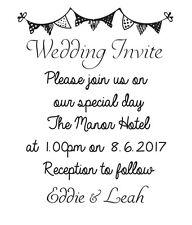 Sello de boda invitación, Boda Hágalo usted mismo de invitación de boda Personalizado