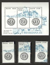 BRAZIL stamp 1983 Brasiliana 83 - Bull's Eye 140 years a- Scott# 1874 RHM B-59