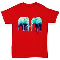 Twisted Envy Boy's Blue Elephants Cotton T-Shirt