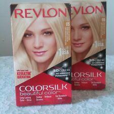 Revlon Colorsilk Hair Color 05 Ultra Light Ash Blonde Ammonia Free Lot Of 2