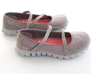 SKECHERS Womens Ez Flex 3.0 Stopover Mary Jane Sneakers Taupe US7 UK4 EUR37 NEW