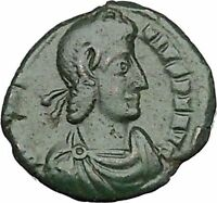 CONSTANTIUS II son of Constantine the Great with globe Ancient Roman Coin i50715