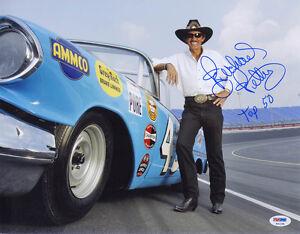 Richard Petty SIGNED 11x14 Photo + Top 50 NASCAR LEGEND PSA/DNA AUTOGRAPHED
