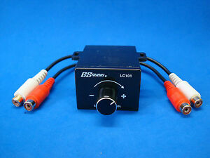 UNIVERSAL RCA JL AUDIO AMP AMPLIFIER REMOTE BASS GAIN KNOB LEVEL CONTROL