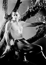 JOHNNY WEISSMULLER    TARZAN the APE MAN  B/W   A4  printed poster