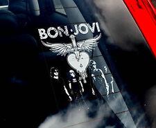 Bon Jovi - Car Window Sticker - American Rock Music Sign Art Gift Novelty
