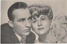 POSTCARD ACTORS  Bing Crosby & Joan Fontaine