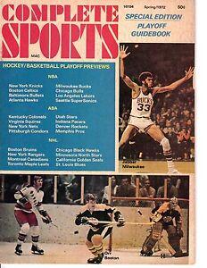 1972 Complete Sports magazine, Kareem Abdul-Jabbar~ Bobby Orr, Boston Bruins ~Gd