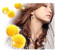 DIY 6 pcs Soft Sponge Hair Care Curler Rollers Balls Yellow Portable design